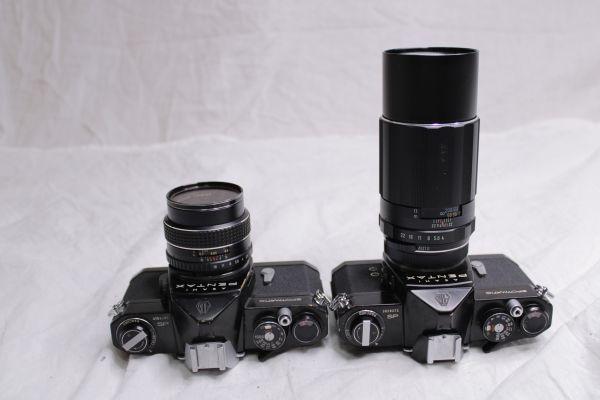 ジャンク PENTAX ASAHI SPOTMATIC SP 一眼レフカメラ2台 レンズ3本 黒 SMC Takumar 1:1.8/55 Super-Multi-Coated 1:4/200 TAKUMAR 1:1.4/50_画像9