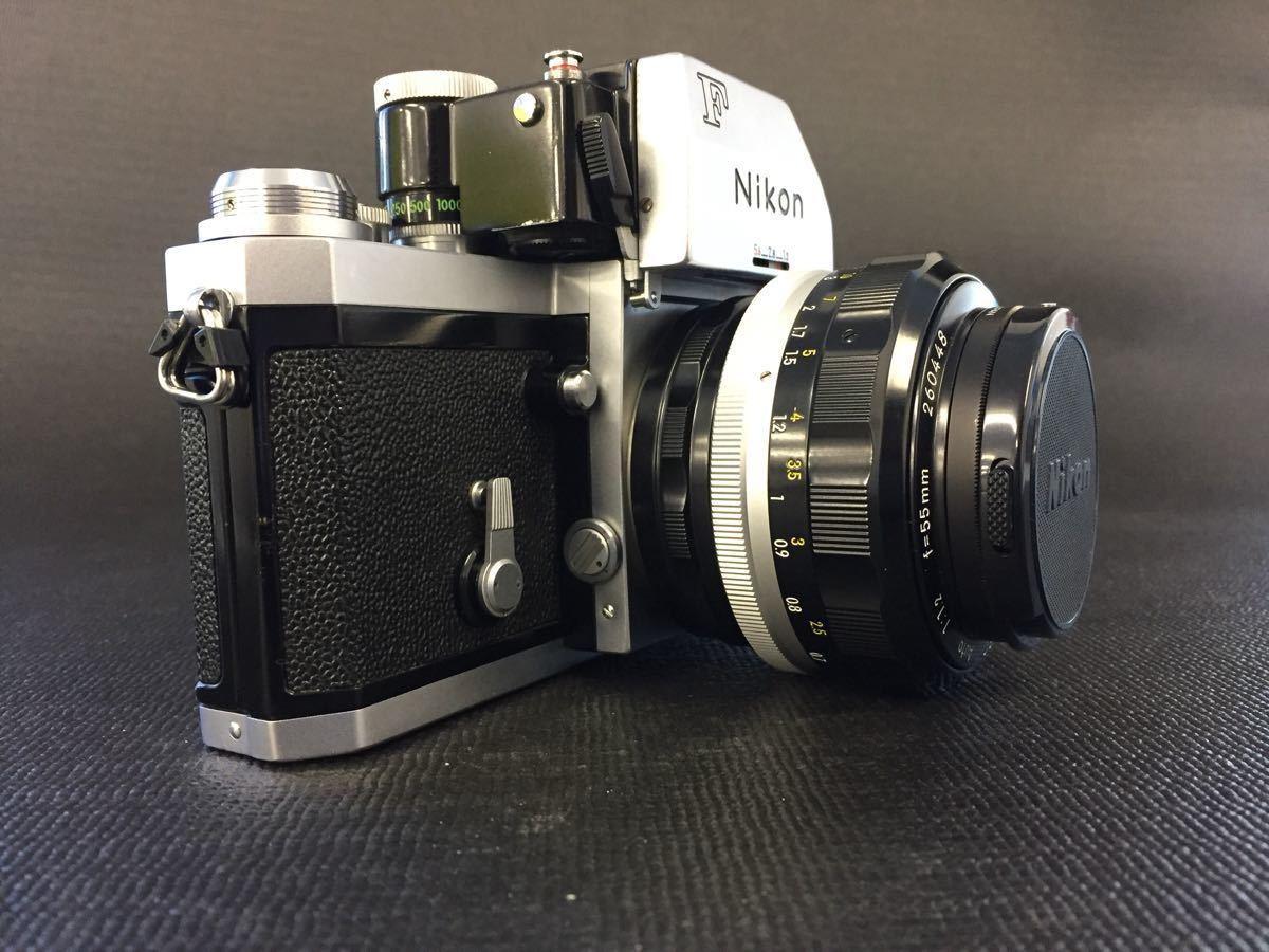 FTnファインダー【Nikon ニコンF フォトミック】703万番台◆NIKKOR-S・C Auto1:1.2 f=55mm◆一眼レフカメラレンズセット◆雄_画像2