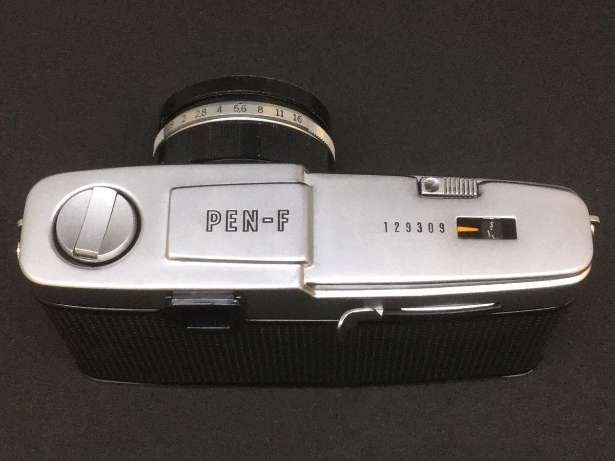 【綺麗】OLYMPUS PEN F/オリンパス フィルム一眼レフ 1:1.8 f=38mm【シャッター音OK】_画像6
