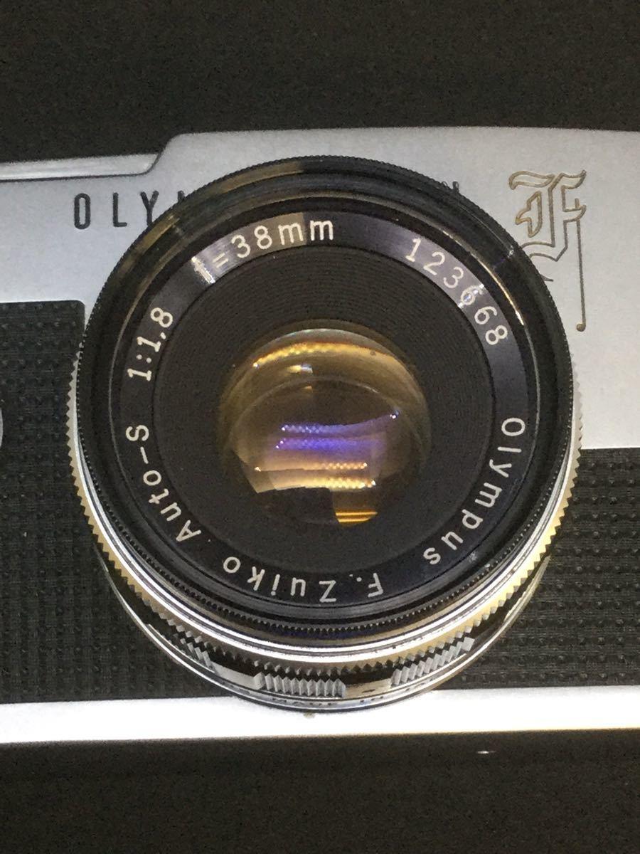 【綺麗】OLYMPUS PEN F/オリンパス フィルム一眼レフ 1:1.8 f=38mm【シャッター音OK】_画像2