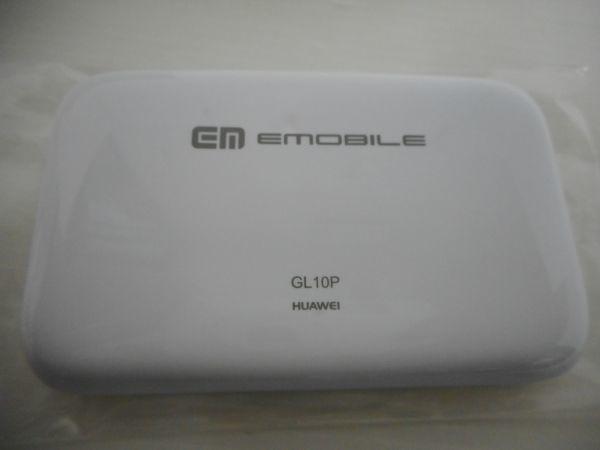 EM EmoBILE Pocket WiFi GL10P ホワイト イーモバイル 本体のみ / 説明書付き ポケット Wi-Fi ワイファイ 白 中古品 B672WD_画像3