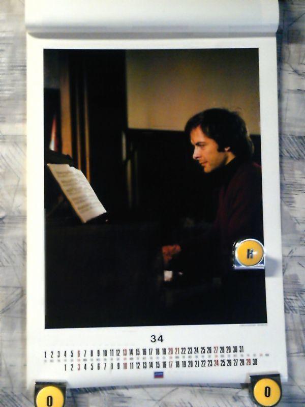 9f3【1983年カレンダー/365x515/7枚綴り】LONDON・クラシックカレンダー/Solti/Hogwood/Chailly/Pavarotti/Kyung-Wha Chung/Ashkenazy_画像3