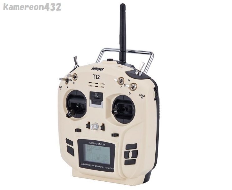 [Jumper T12 OpenTX版] JP4-in-1 マルチプロトコル RFモジュール付き Frsky JR Flysky用 16CH 送信機 モード2_画像3