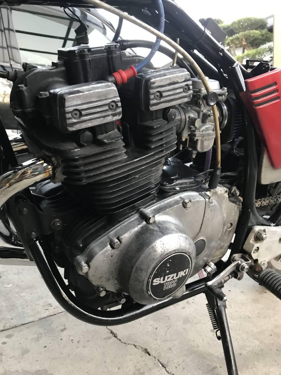 GSX250E 部品取り レストアベース 一応エンジンかか_画像2