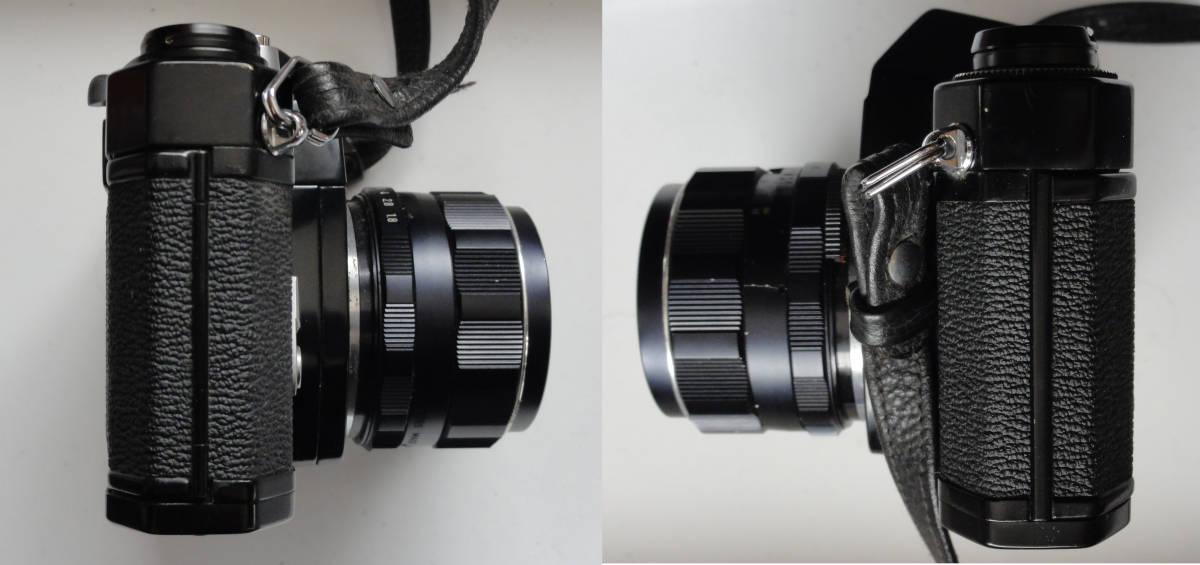 綺麗な状態のアサヒペンタックスSP黒ボディーとSMCタクマー55mmF1.8レンズ付き_画像6
