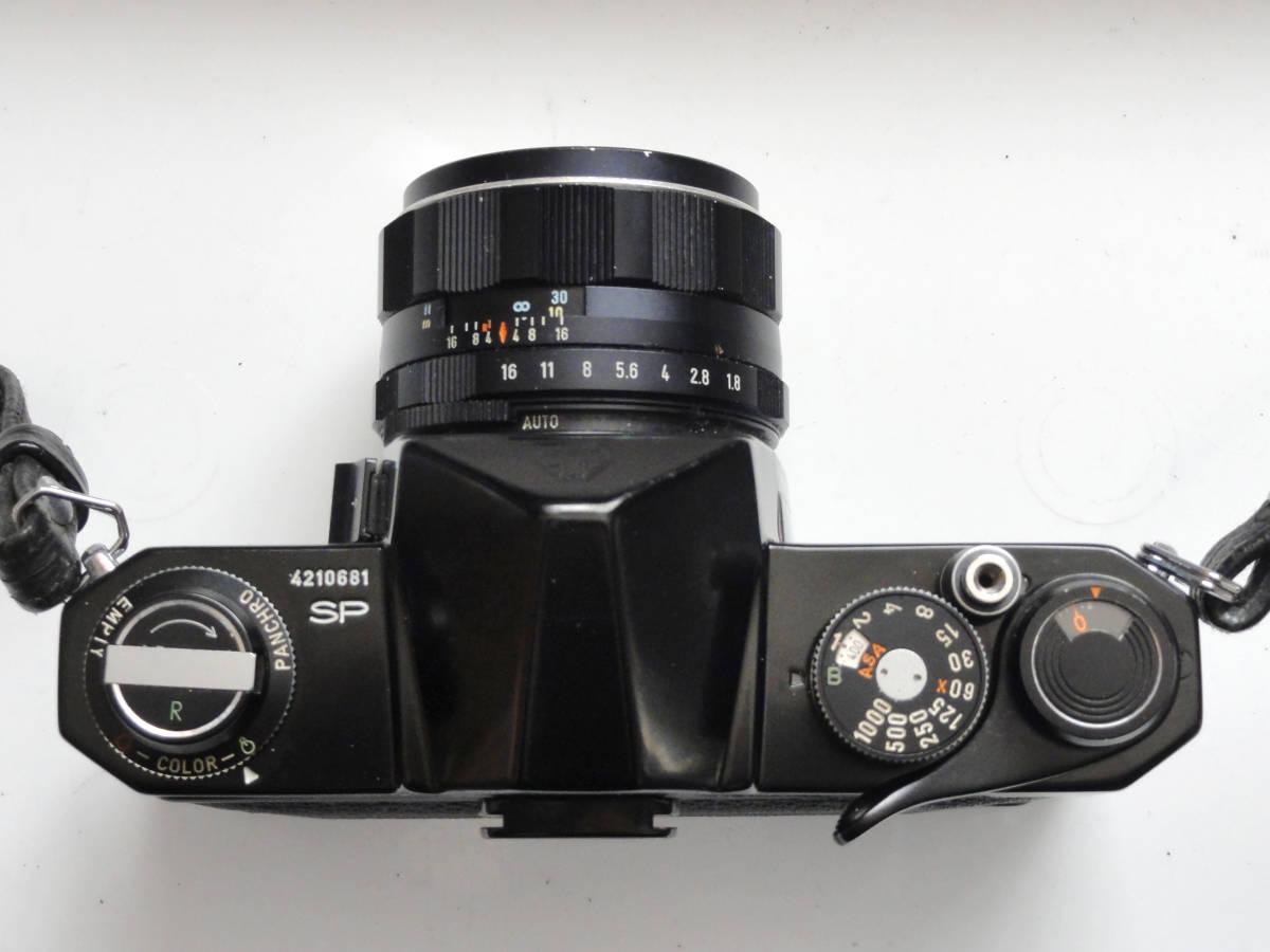 綺麗な状態のアサヒペンタックスSP黒ボディーとSMCタクマー55mmF1.8レンズ付き_画像3