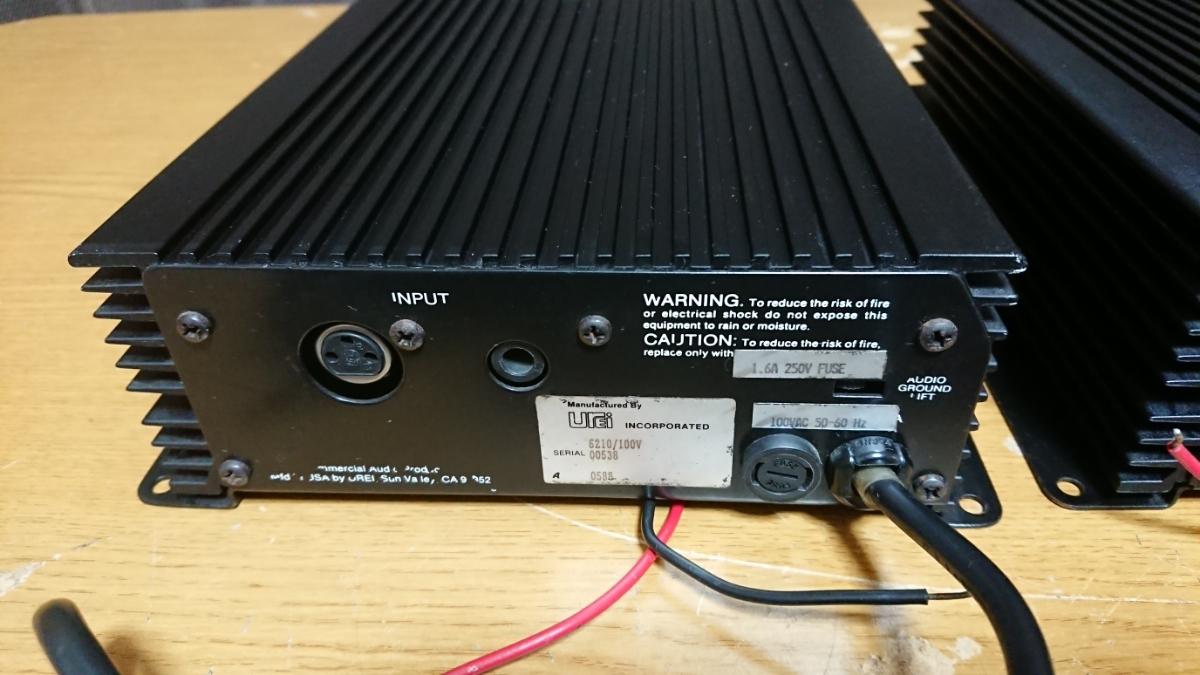 JBLモノラルパワーアンプ UREI 6210 2台セット動作品です!_画像9