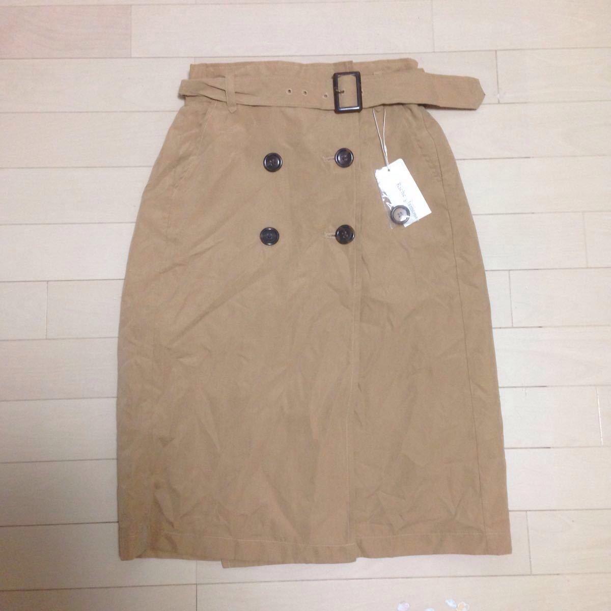 ☆☆新品☆☆ Riche glamour リシェ グラマー スカート 巻きスカート トレンチスカート ベージュ キャメル
