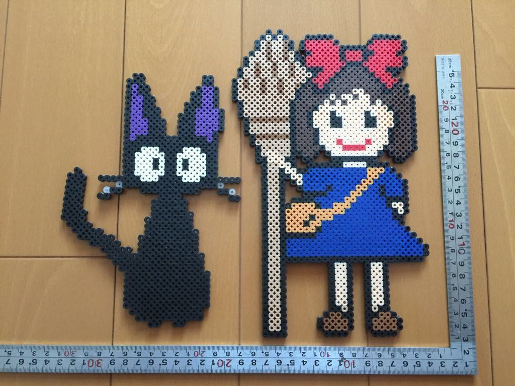 魔女の宅急便 キキ&ジジ アイロンビーズ 約30cm ジブリ ハンドメイド_画像2