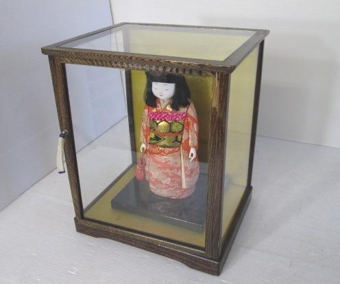 【楽翁人形】 ★ 晴日(はれび) ★ 童女 着物 ガラスケース入り