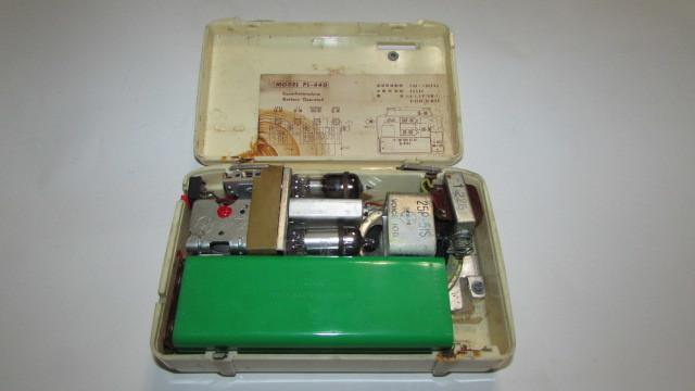 (旧家・蔵出し)(古い味わいのある携帯用真空管ラジオ・ナショナル・MODEL PL-440)貴重・珍品・ジャンク品_画像2