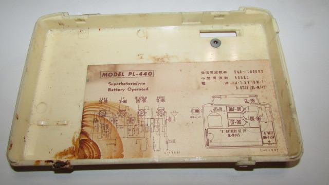 (旧家・蔵出し)(古い味わいのある携帯用真空管ラジオ・ナショナル・MODEL PL-440)貴重・珍品・ジャンク品_画像4