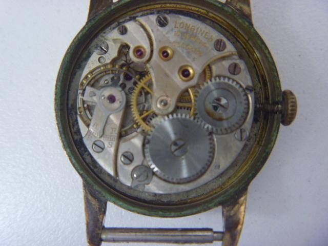 LONGINES ロンジン K18 手巻き 腕時計 ジャンク_画像4