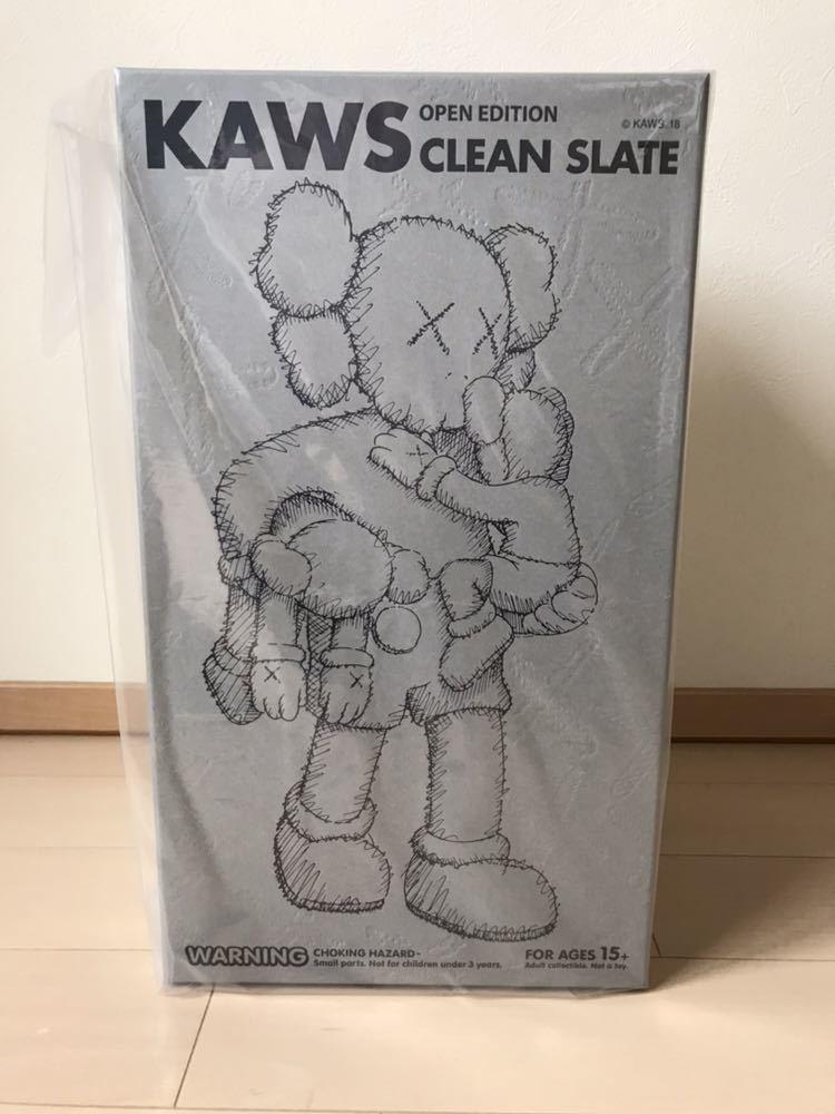 新品 未開封 MEDICOM TOY KAWS CLEAN SLATE GRAY /メディコム トイ/カウズ/クリーン スレート/グレー/フィギュア/ベアブリック/_画像2