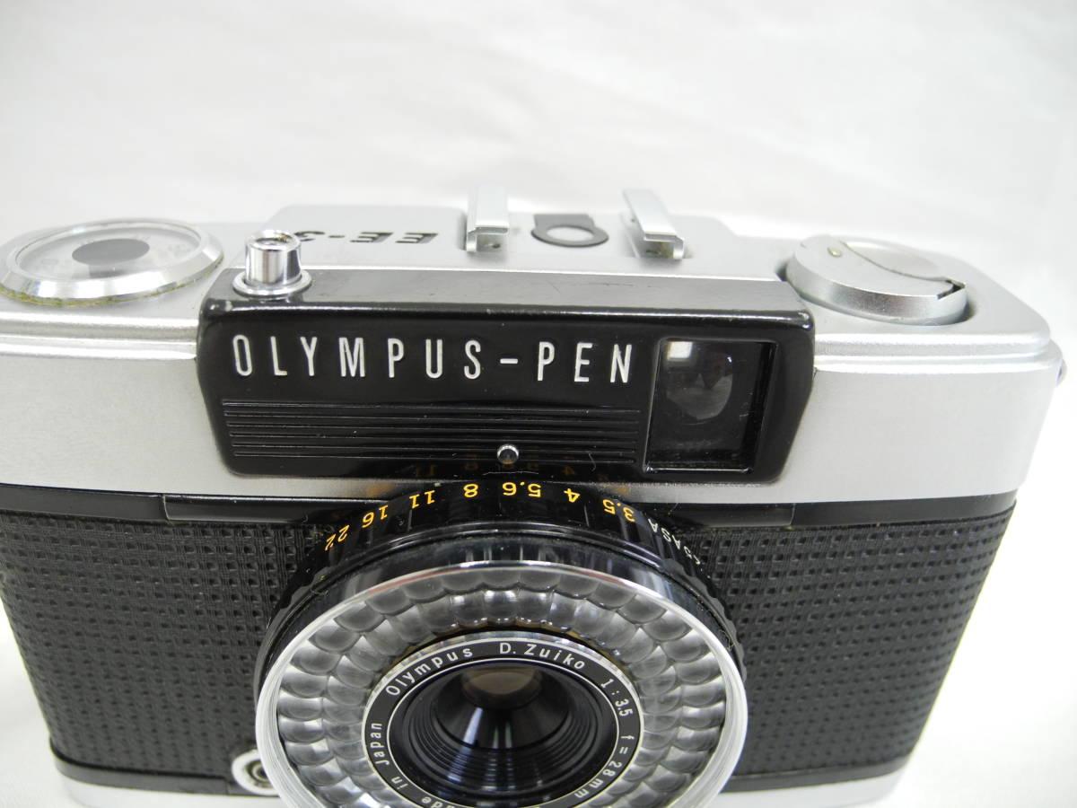 (53)☆オリンパス☆OLYMPUS-PEN EE-3 フイルムカメラ 1:3.5 f=28mm♪ _画像4