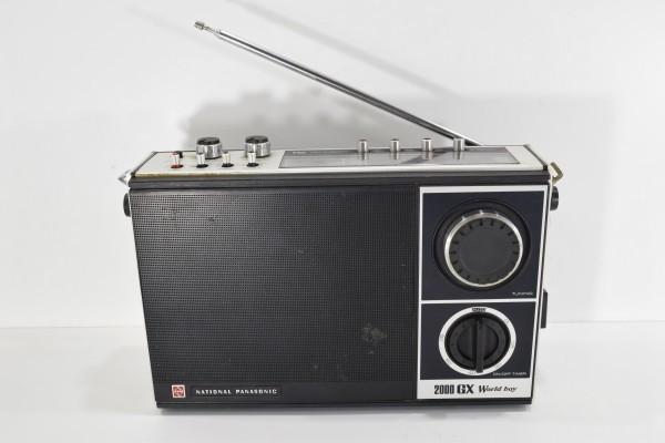 動確 当時物 National ナショナル RF-868 ワールドボーイ2000GX ラジオ Panasonic 松下電器 昭和レトロ DAI-982_画像2