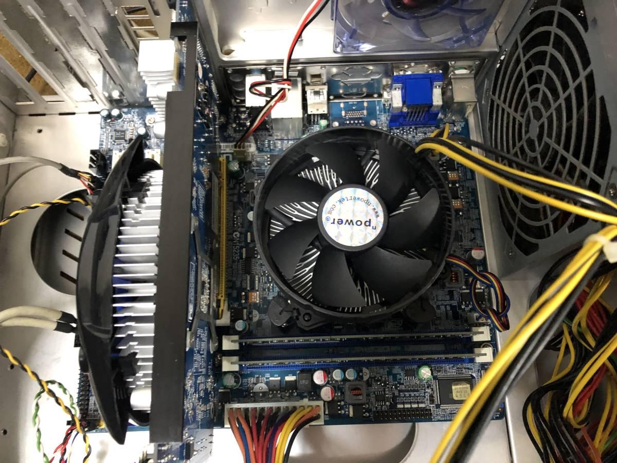 自作PC Core i7 2700k 3.5GHz FOXCONN H61MX V2.0 LGA1155 H61 MicroATX メモリ 4G グラフィック GeForce GTS250 電源 400W 中古品_画像6