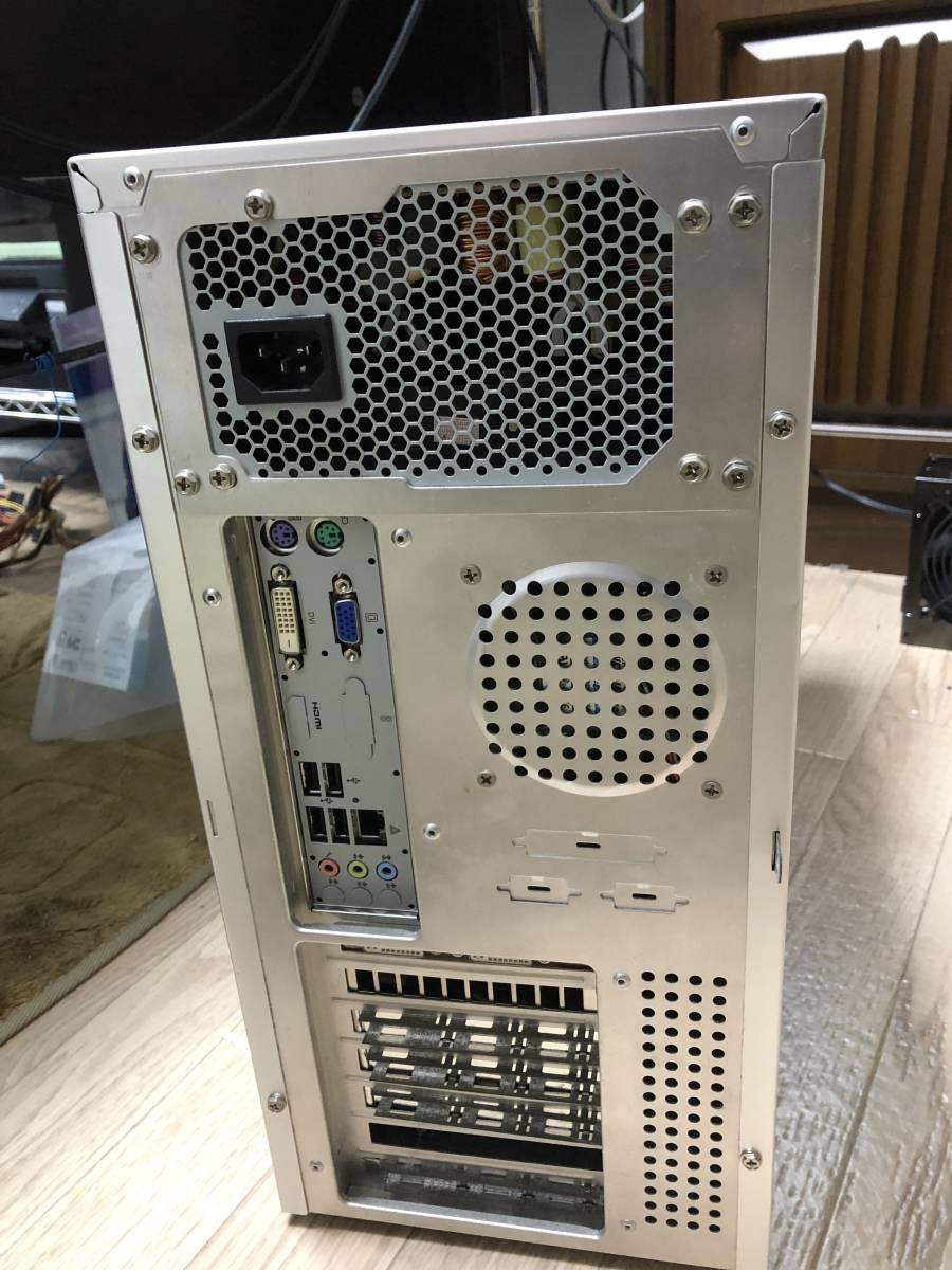 自作PC Core i7 2700k 3.5GHz FOXCONN H61MX V2.0 LGA1155 H61 MicroATX メモリ 4G グラフィック GeForce GTS250 電源 400W 中古品_画像2