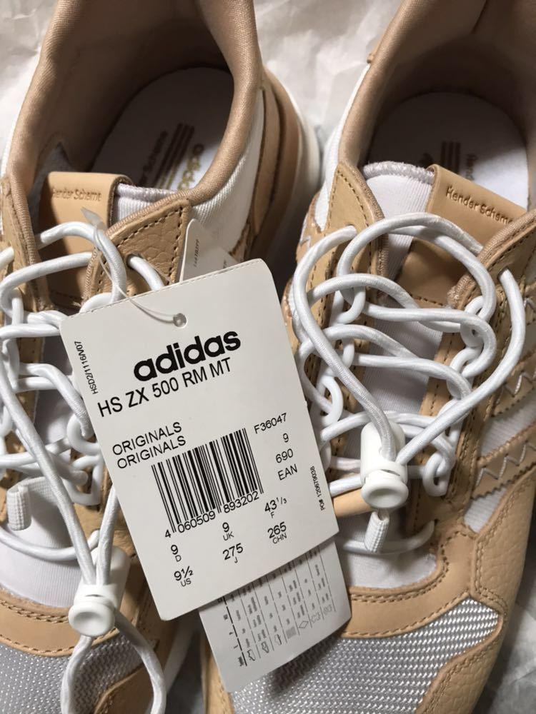 7e8e15aba7384 送料込新品27.5cm Hender Scheme HS ZX 500 RM MT adidas ORIGINALS  エンダースキームアディダスオリジナルススニーカー値下げ交渉