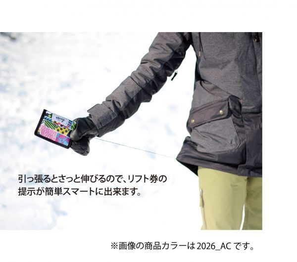 【新品:送料無料】19 Orange PASS CASE CVT エクステンションコード付き MADBUNNY オレンジ スノーボード パスケース リフト券 財布_画像3