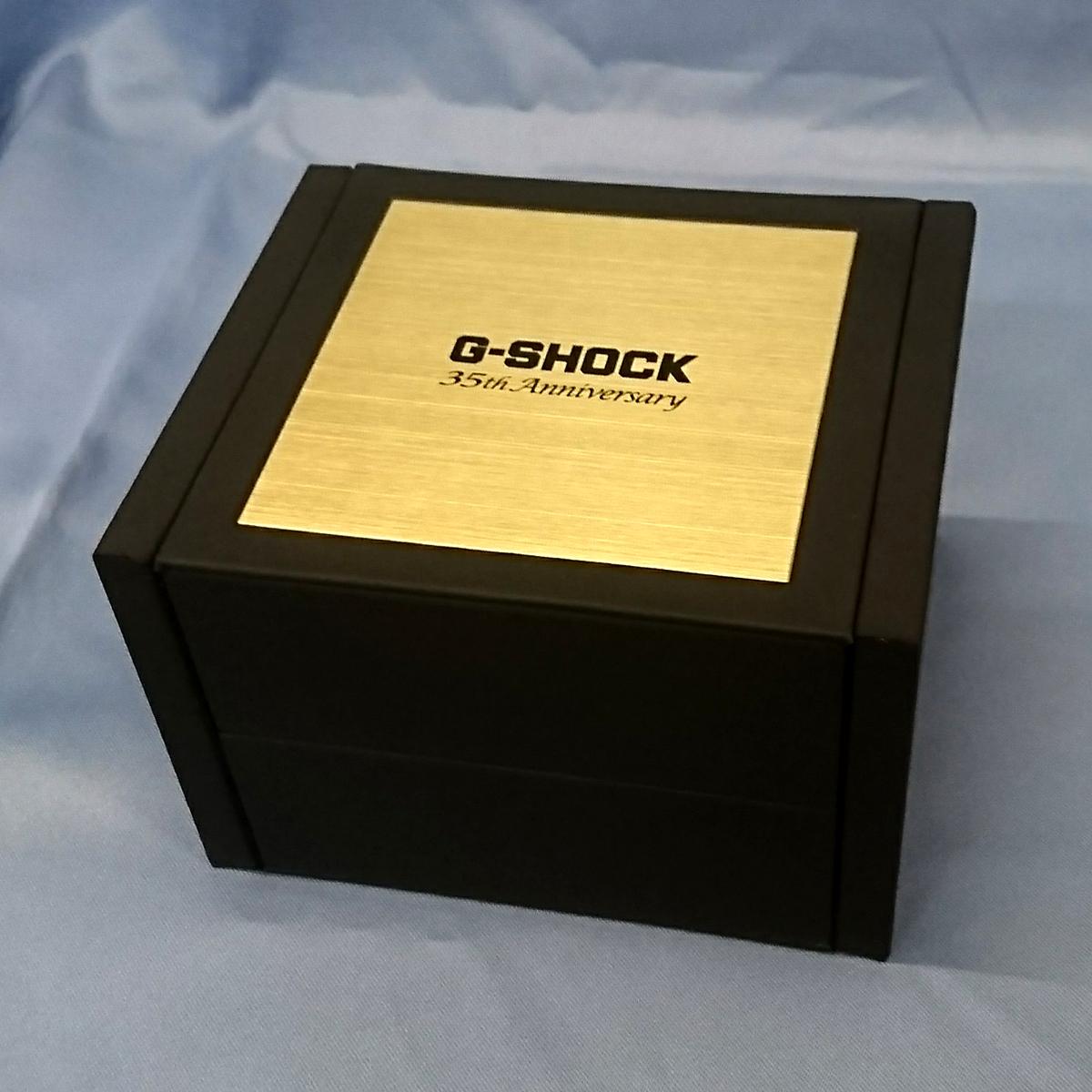 新品 撮影開封のみ 未使用 CASIO G-SHOCK 35周年記念限定モデル フルメタル GOLD ゴールド Gショック GMW-B5000TFG-9JR 正規品_画像3