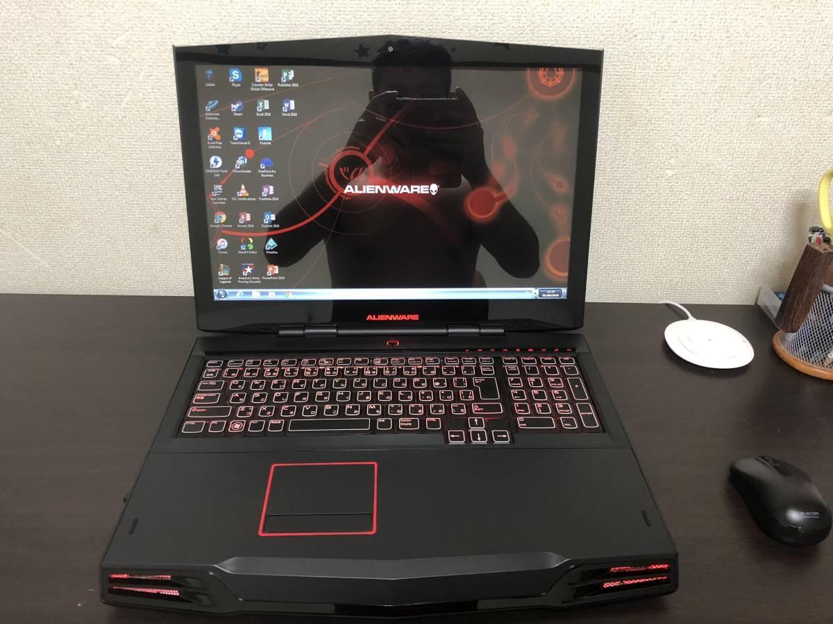 Alienware M17X-R2 SSD 240GB -ジャンク ゴム足一つ欠け 4通とも OS なし