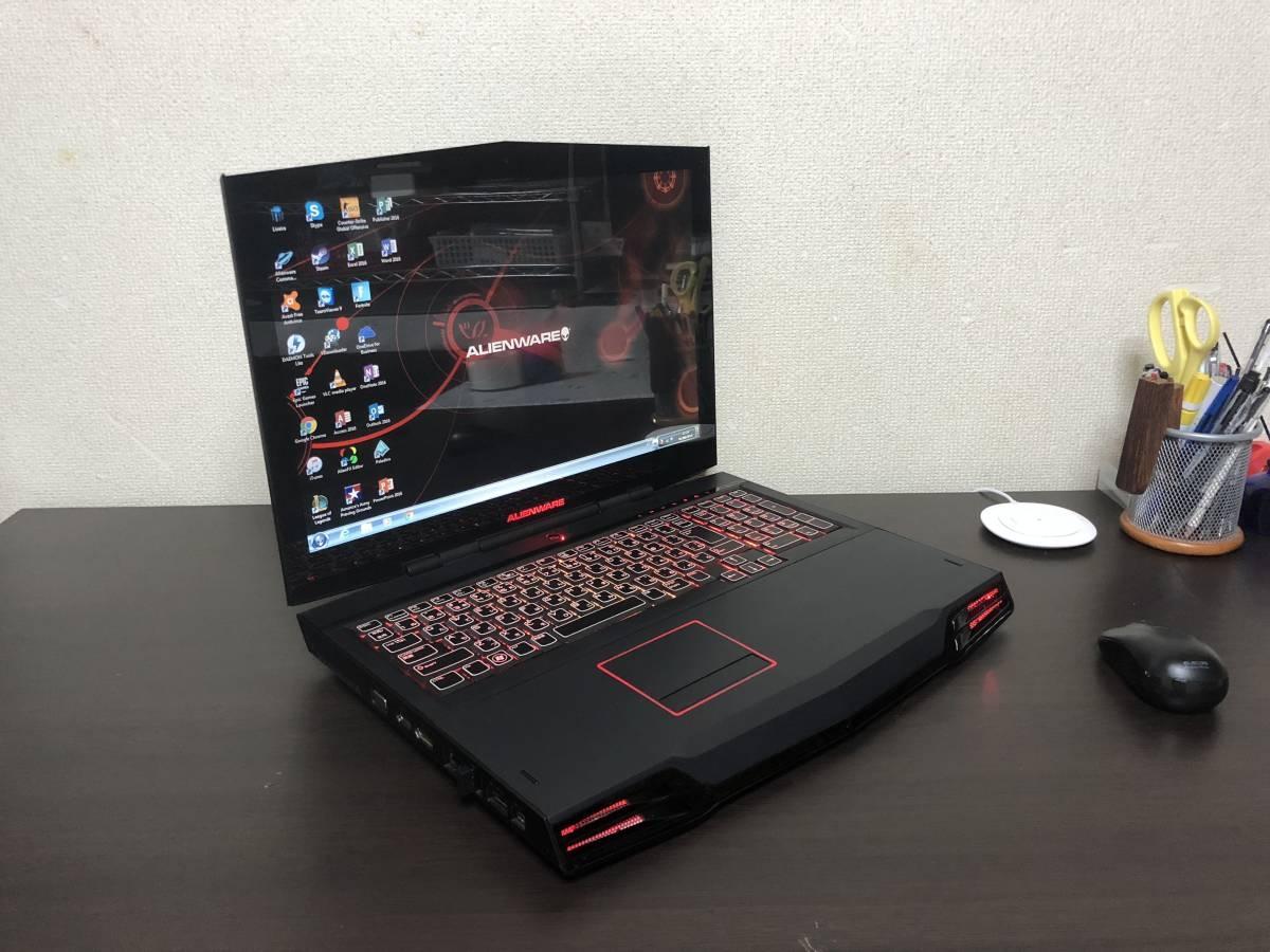 Alienware M17X-R2 SSD 240GB -ジャンク ゴム足一つ欠け 4通とも OS なし_画像2