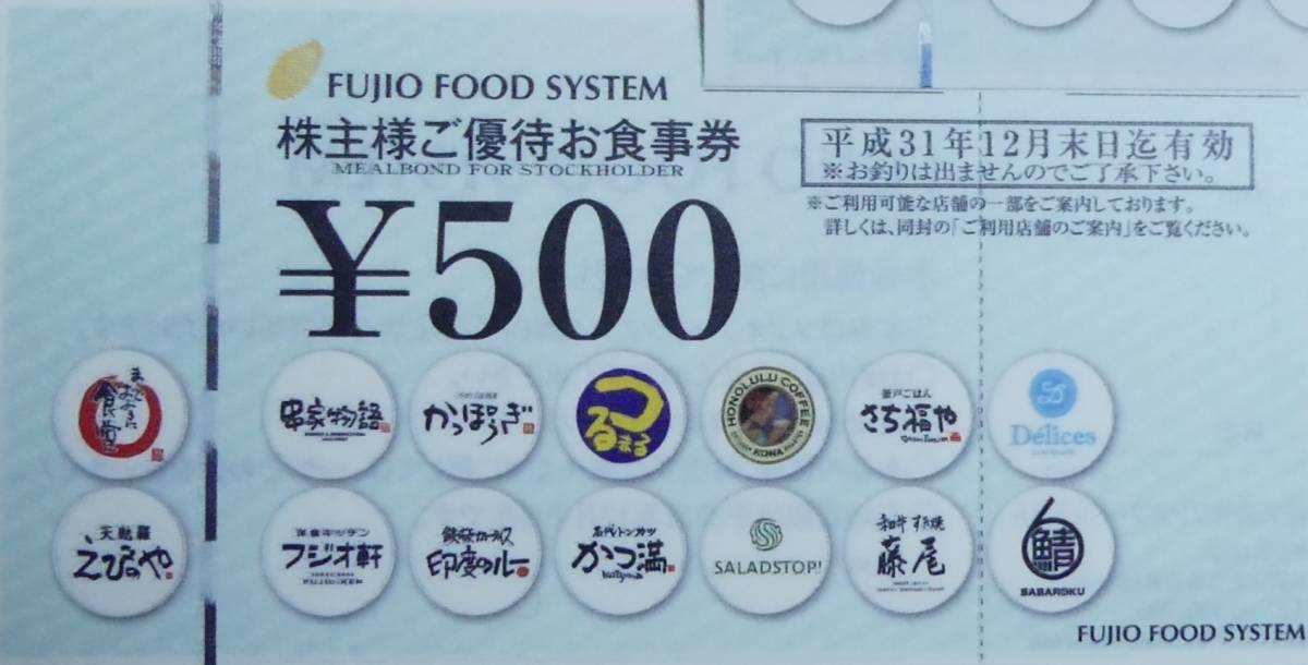 ★フドオフード株主優待食事券12000円分★