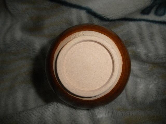 @@ 九州の焼きもの 高取焼 一輪挿し 茶道具 華道 高取の銘あり 飴釉の魅力  口径2cm 高さ16.3cm_画像5