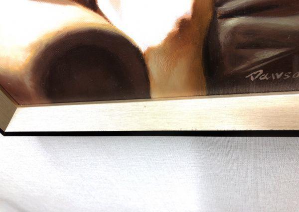油絵 人物画『思い通り』Dawson作 肉筆1点物 ※額に小傷有り 女性 ヌード 裸婦 セクシー 美女 モデル S11-N10_画像9