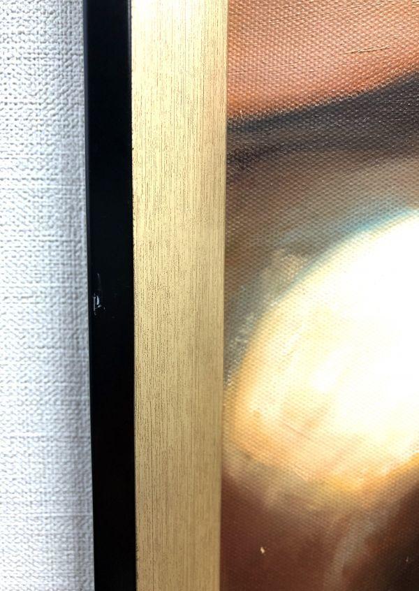 油絵 人物画『思い通り』Dawson作 肉筆1点物 ※額に小傷有り 女性 ヌード 裸婦 セクシー 美女 モデル S11-N10_画像8