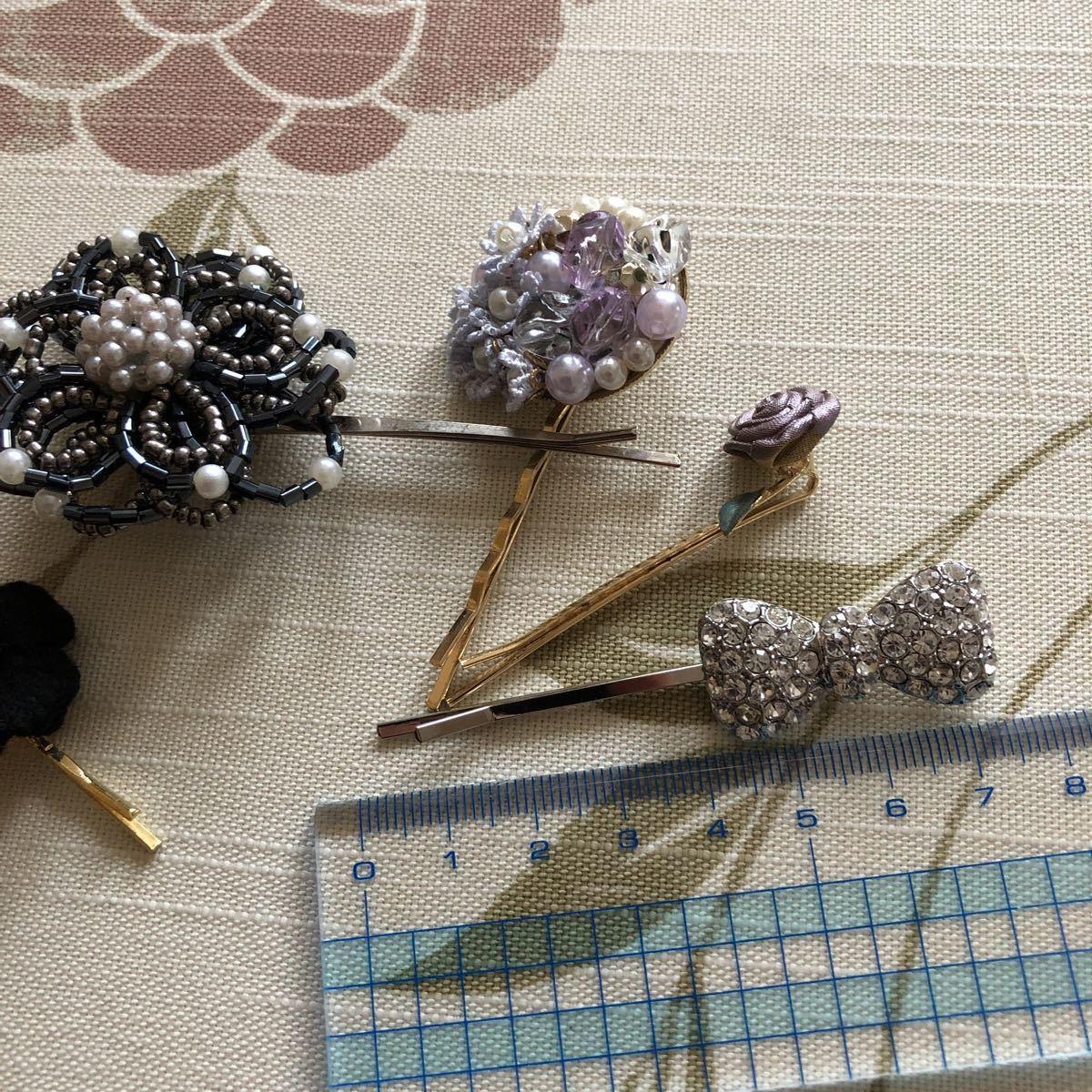 hairpin ribbon flower