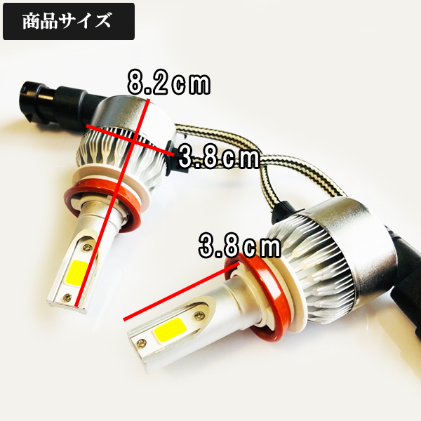 スズキ◆爆光LEDフォグランプ 6000k H8/H11-H16 7600LM◆SX-4 S-CROSS H29.6~ YA/YB22S 専用_画像3