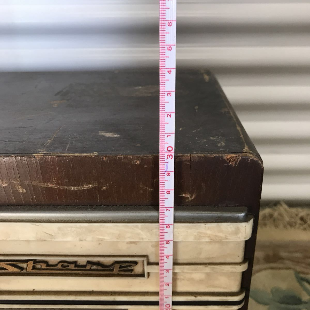シャープ SHARP 真空管ラジオ ラジオ 6A-62型 昭和レトロ インテリア ジャンク品_画像10
