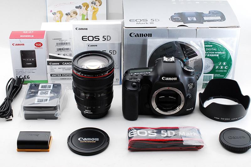 【美品★憧れのハイグレード】Canon キャノン EOS 5D MarkⅢ★EF 24-105L IS USM レンズキット 元箱&付属品完璧!フード&チャージャー新品