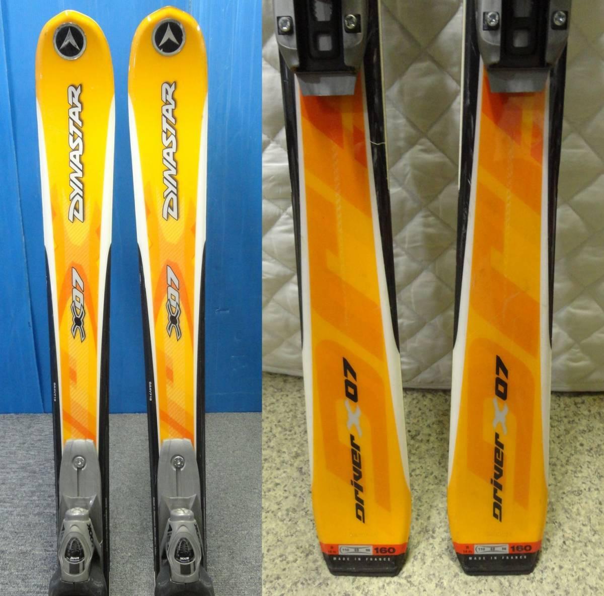 【YU505】DYNASTAR ダイナスター スキー板 ビンディングセット Driver X07 LOOK AIS 全長約159cm SKI スポーツ_画像3