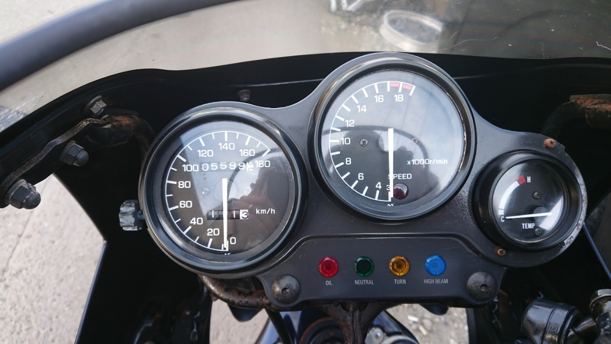 ヤマハ FZR250 2KR エンジン始動 書類あり 低走行 貴重_画像7