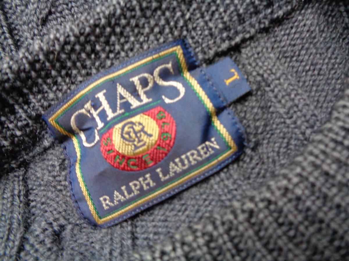 CHAPS RALPH LAUREN チャップス ラルフローレン ウール ケーブル ニット セーター サイズL _画像3