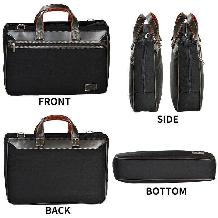 ビジネスバッグ メンズ ナイロン ブリーフケース B4ファイル B4 カジュアル 41cm 2way 日本製 国産 豊岡製鞄 26595 オレンジ_画像3