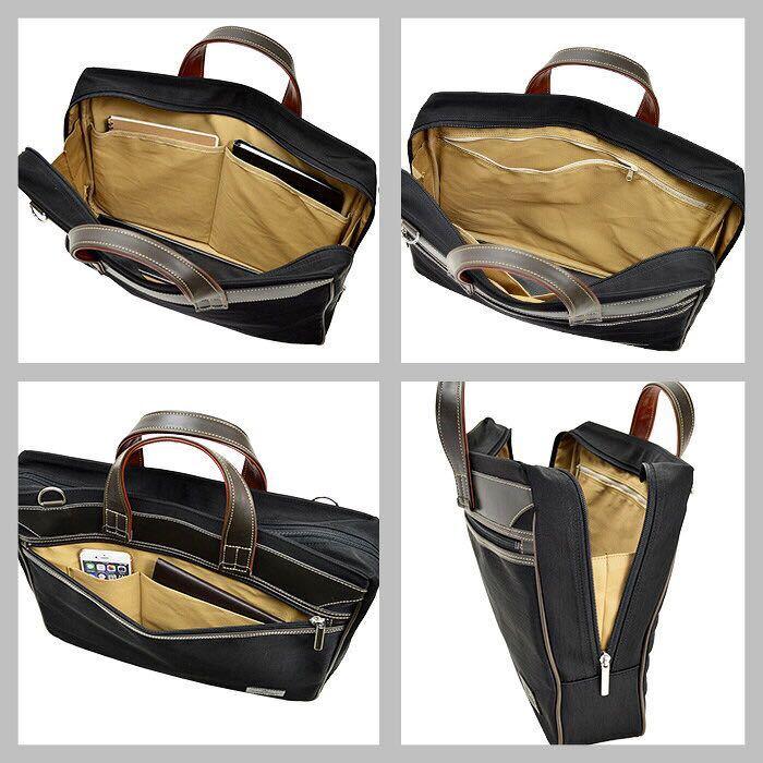 ビジネスバッグ メンズ ナイロン ブリーフケース B4ファイル B4 カジュアル 41cm 2way 日本製 国産 豊岡製鞄 26595 オレンジ_画像2