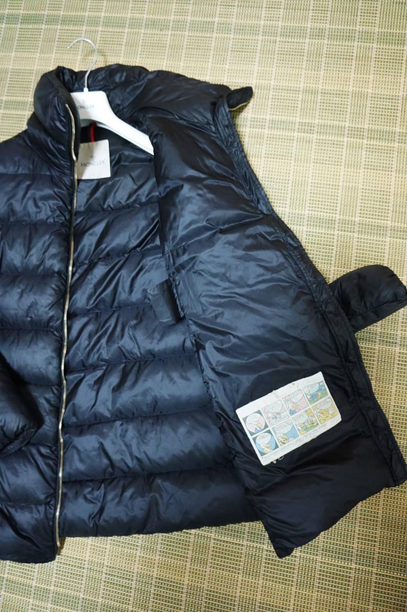 美品 正規品 モンクレール トルシー/TORCY ロングダウンコート ブラック サイズ2 QR認証タグ付 送料込(管理番号JA115)_画像6