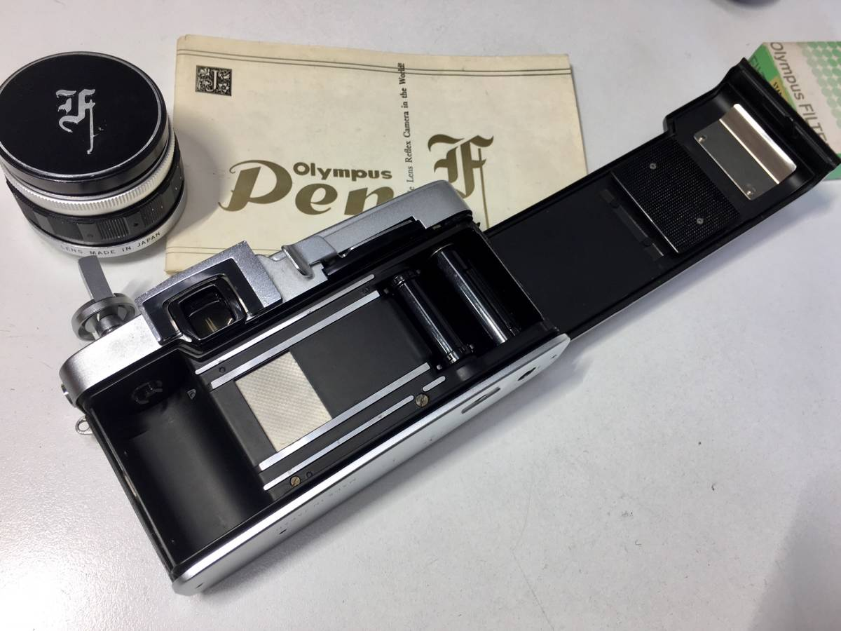 ◆OLYMPUS オリンパス PEN-F/F.ZUIKO Auto-S 38mm 1:1.8 アクセサリーシュー★取説付き_画像7