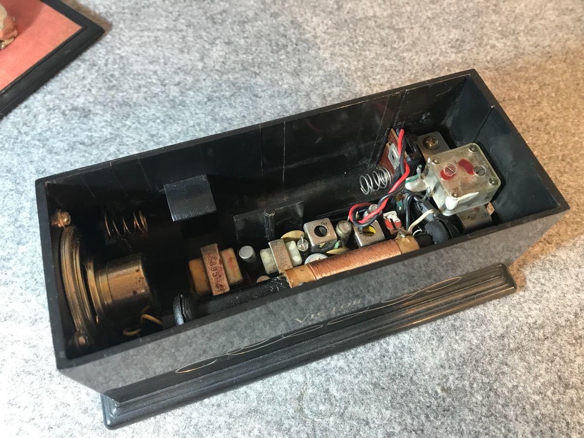 Victor ビクター ニッパー トランジスタラジオ 6H-133 ブラック×レッド MW540-1600KC 卓上ラジオ ジャンク 昭和レトロ 販促品_画像6