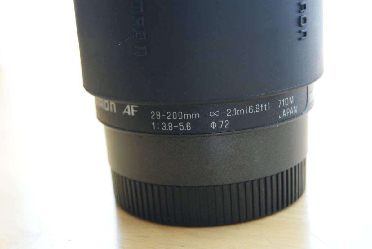 タムロン tamron AF ASPHERICAL 28-200mm 3.8-5.6 Φ72_画像2