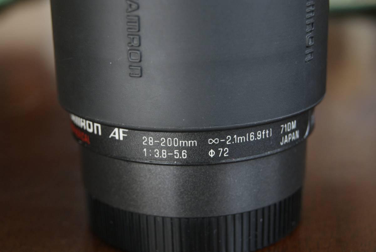 タムロン tamron AF ASPHERICAL 28-200mm 3.8-5.6 Φ72_画像3