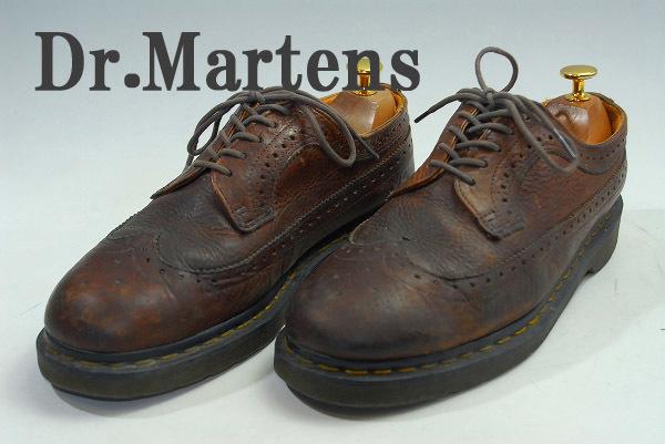 3980円スタート DS2475 Dr.Martens ドクターマーチン メンズ ウィングチップ レザーシューズ サイズUK7 アウトソール28.5cm 安値出品_画像1