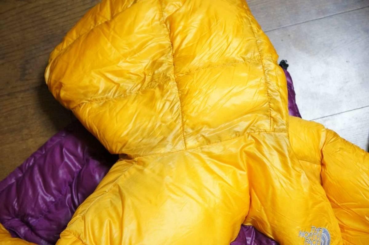 超軽量!THE NORTH FACE ノースフェイス ダウンジャケット ACONCAGUA HOODIE アコンカグアフーディ ND18805-OC オーキッド サイズL 黄紫