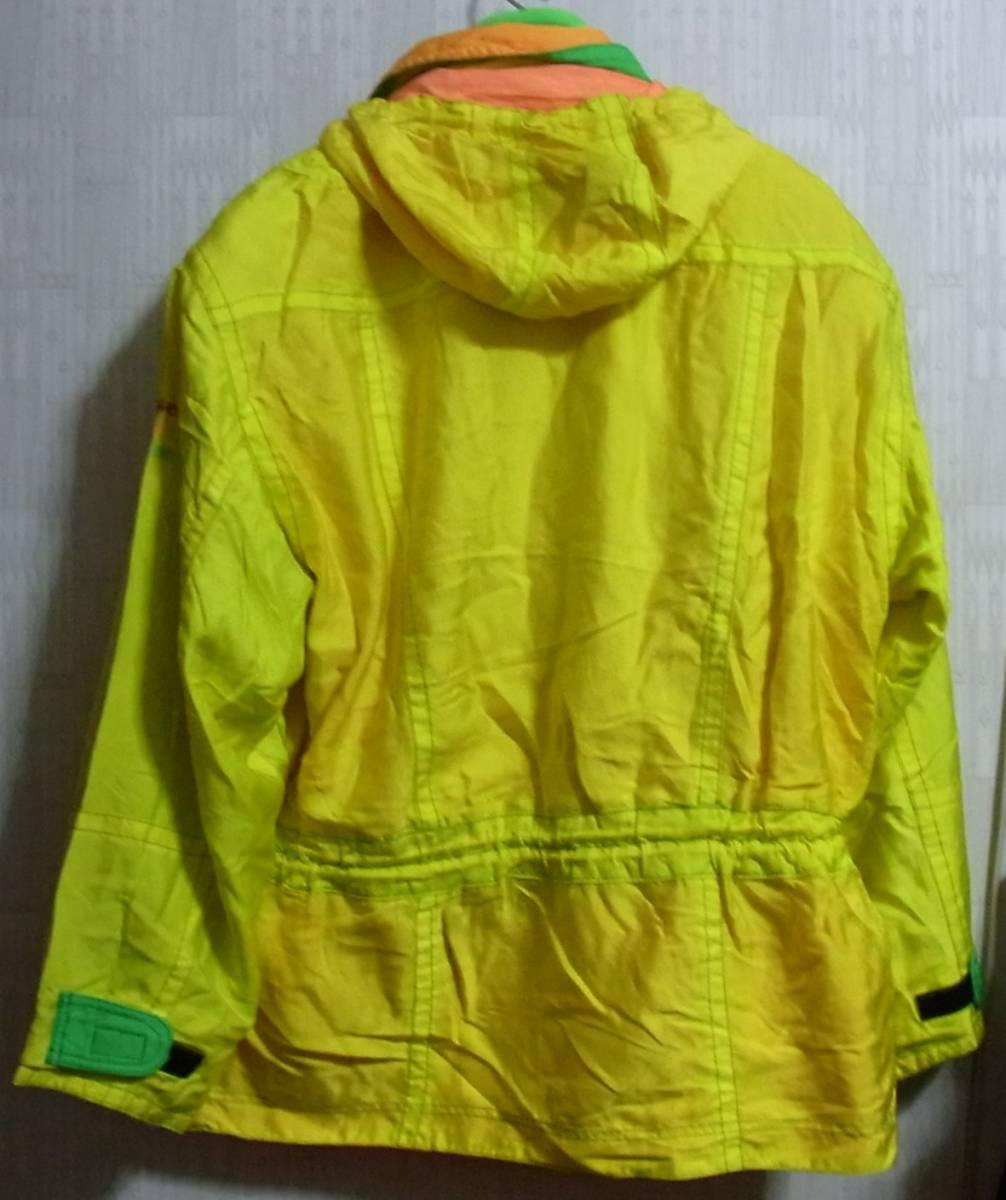 ellesse エレッセ スキーウェア 上下 ジャケット スキーパンツ イエロー ホワイト 黄 白_画像2