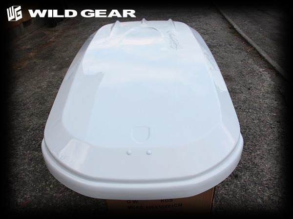 新品 アウトレット 展示品 売切り WILDGEAR ルーフボックス ジェットバッグ スキー スノボ ホワイト INNO THULE TERZO よりもワイルドギア