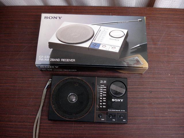 ★昭和レトロ 当時物 箱付き!SONY ICF-S30 ワイドFM受信可能ラジオ 簡易確認OK! ジャンク ★